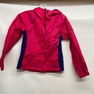 Columbia Kids Rain Jacket PINK Girls sz 10/12